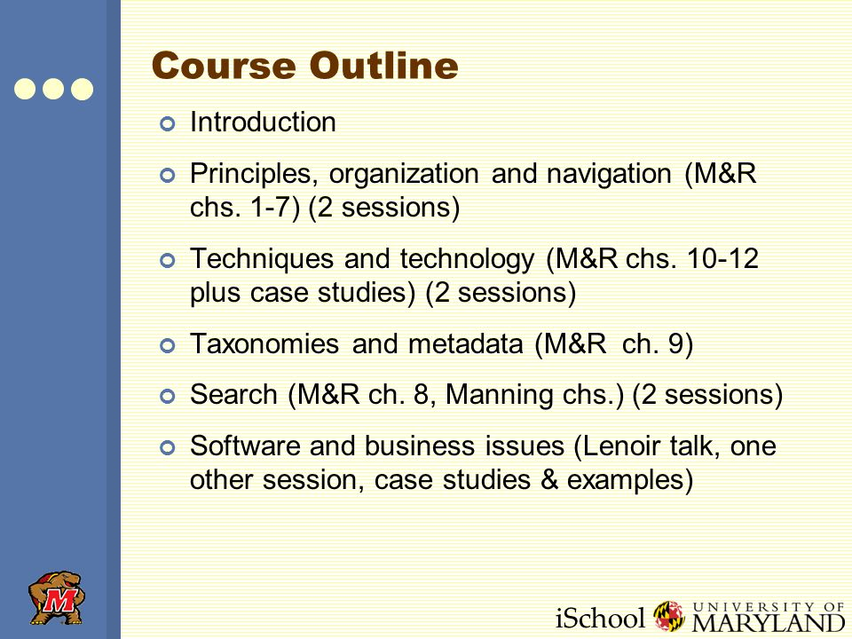 iSchool Information Architecture What is it.