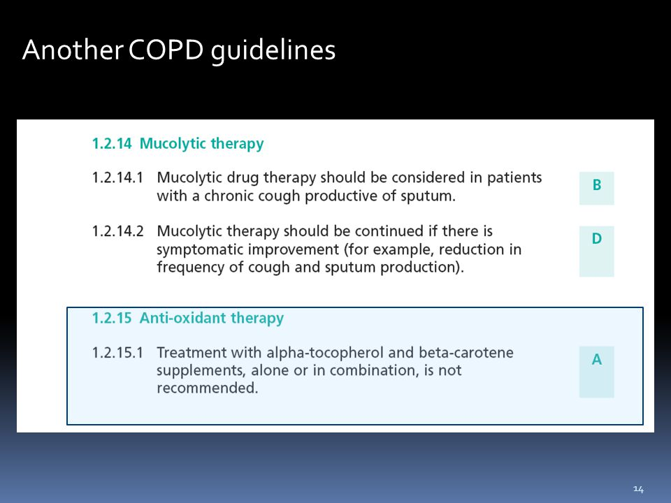 Another COPD guidelines 14