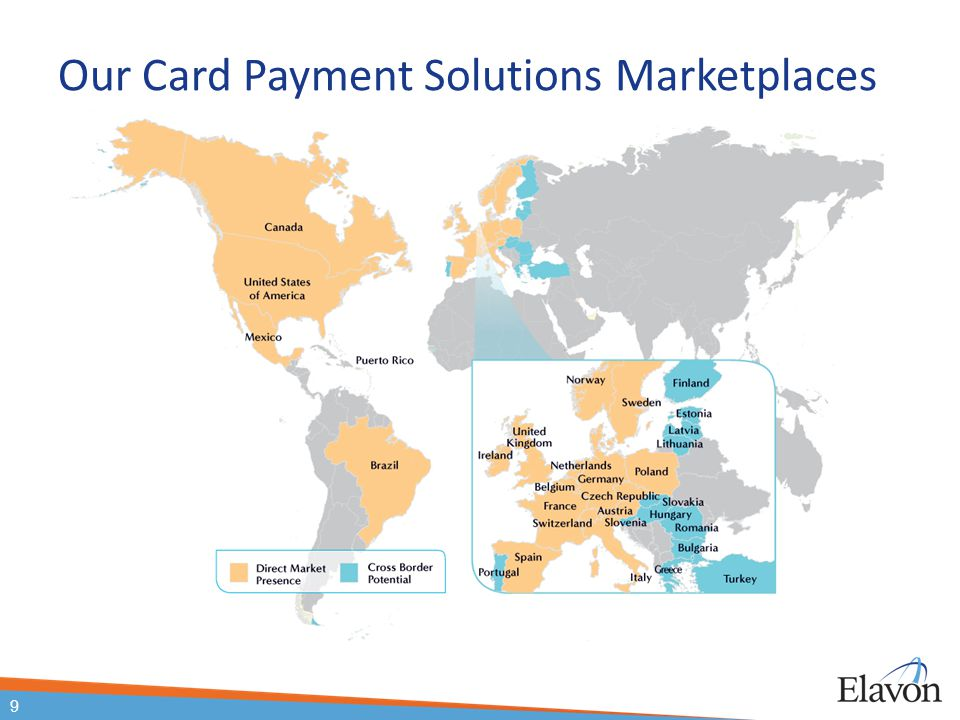 Our Card Payment Solutions Marketplaces 9 About Elavon