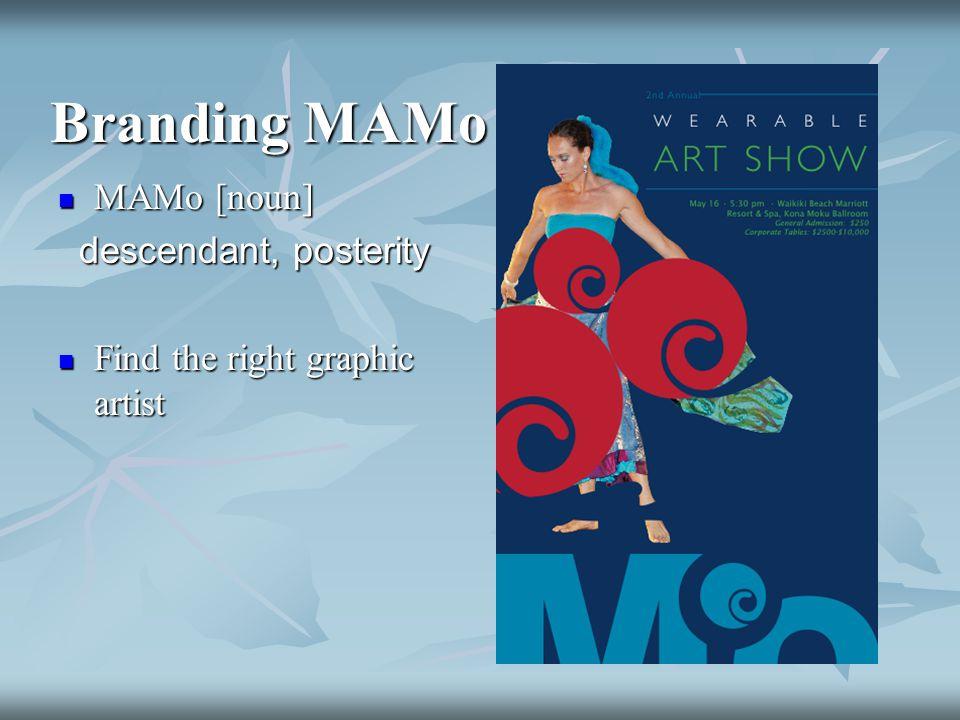 Branding MAMo MAMo [noun] MAMo [noun] descendant, posterity descendant, posterity Find the right graphic artist Find the right graphic artist
