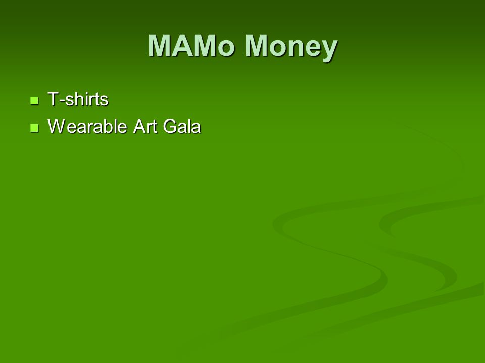 MAMo Money T-shirts T-shirts Wearable Art Gala Wearable Art Gala