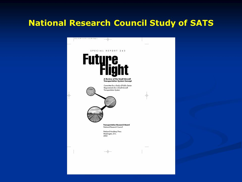 National Research Council Study of SATS