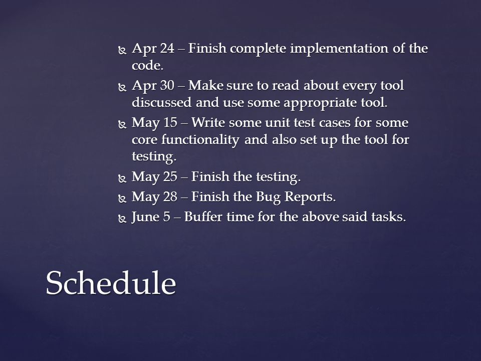  Apr 24 – Finish complete implementation of the code.