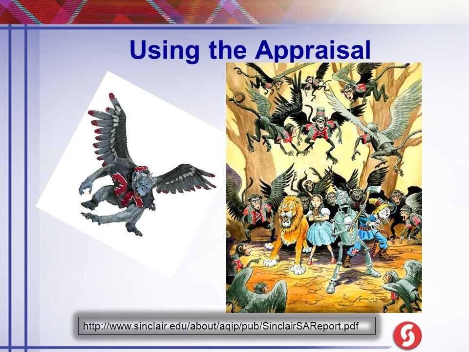 Using the Appraisal http://www.sinclair.edu/about/aqip/pub/SinclairSAReport.pdf