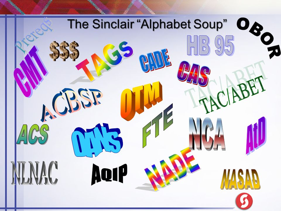 "The Sinclair ""Alphabet Soup"""