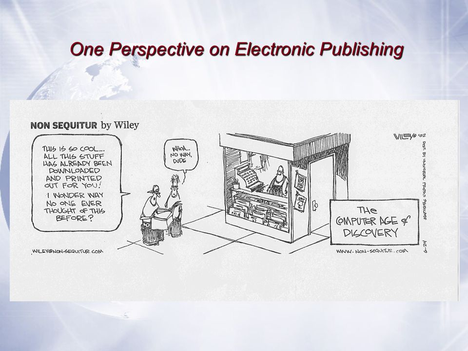 One Perspective on Electronic Publishing