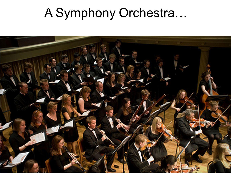 A Symphony Orchestra…