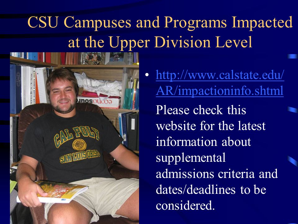 CSU Major Prep Articulation Agreement - sample Students who complete specified major prep courses are well prepared to enroll in upper division major courses after they transfer.