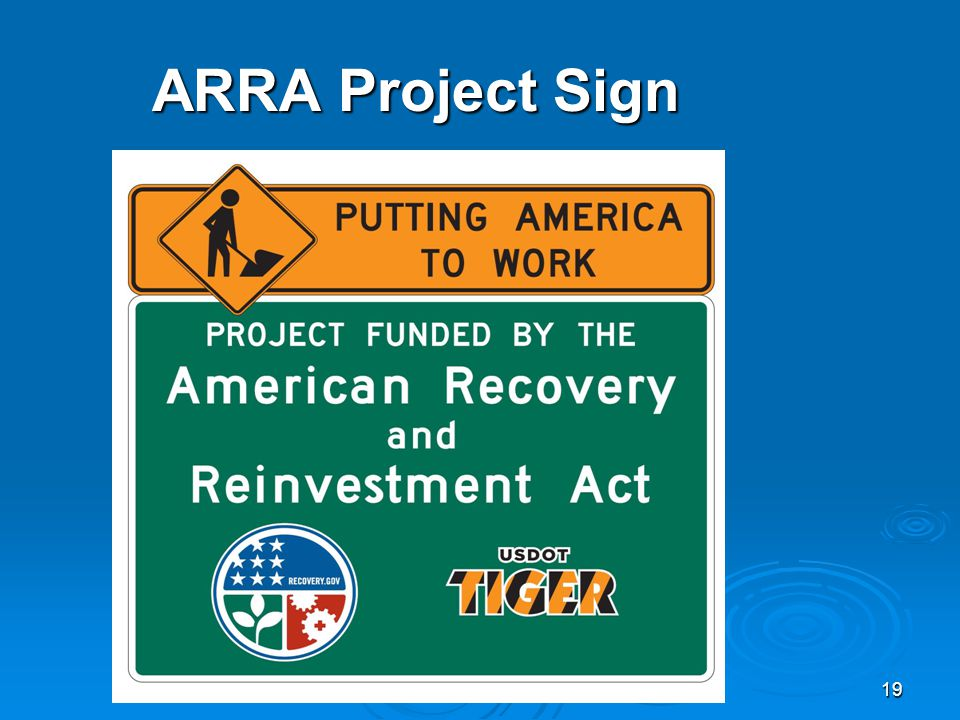 19 ARRA Project Sign