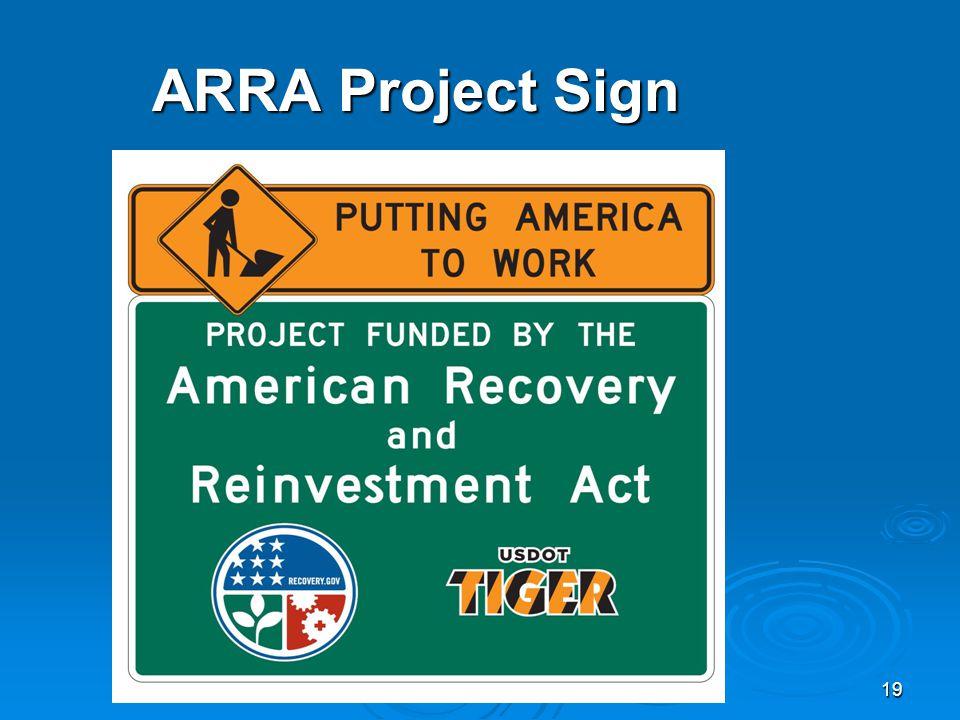 19 ARRA Project Sign