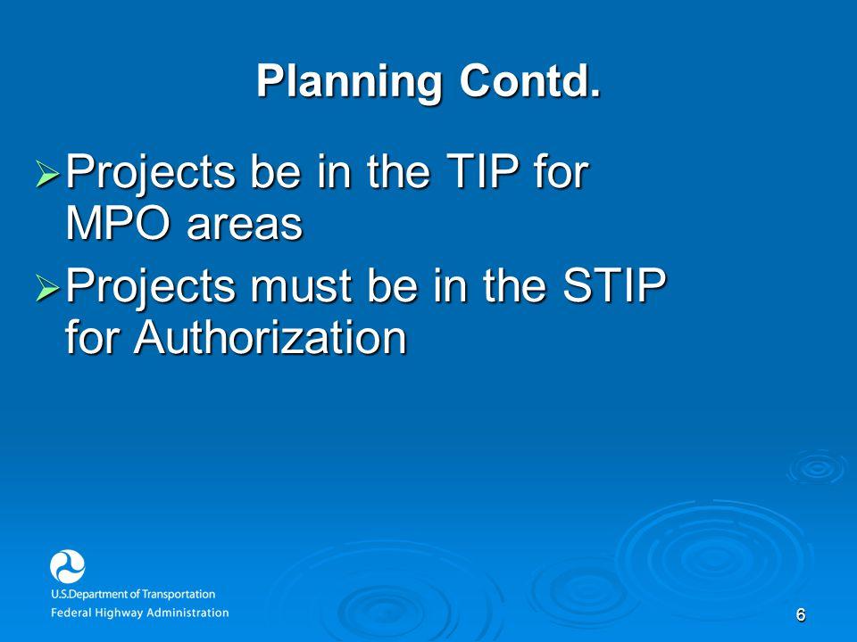 6 Planning Contd.