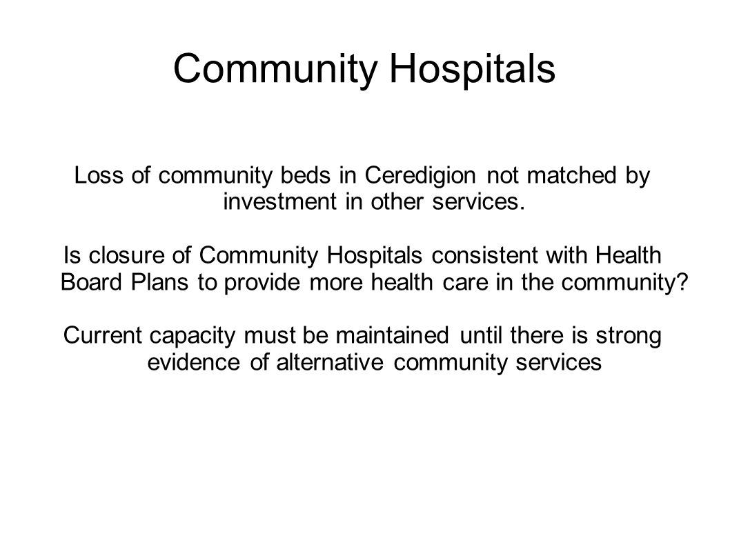 MID-WALES HEALTH BRONGLAIS HOSPITAL Women and Children services SERVICE HAS CHANGED WITHOUT CONSULTATION (2008 RCOG REPORT).