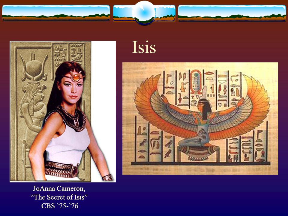 Isis JoAnna Cameron, The Secret of Isis CBS '75-'76