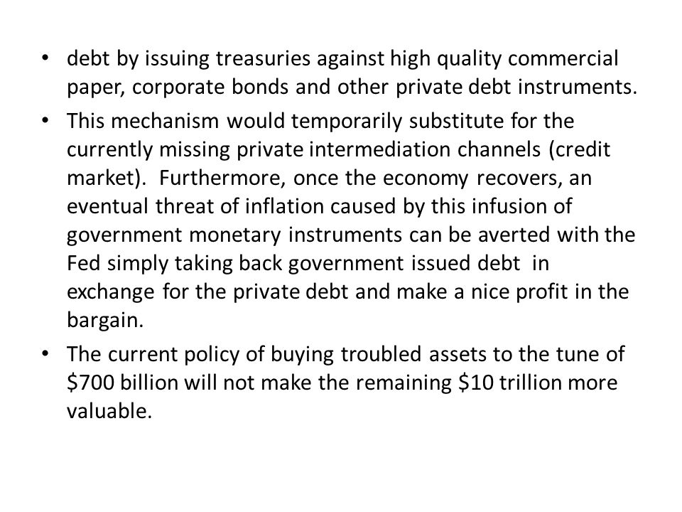 All the aforementioned amounts to subsidies to banks to be ultimately paid for by future taxpayers or inflation.