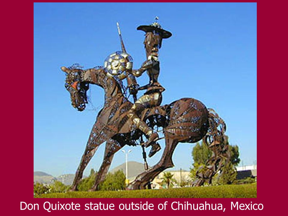 Don Quixote statue outside of Chihuahua, Mexico