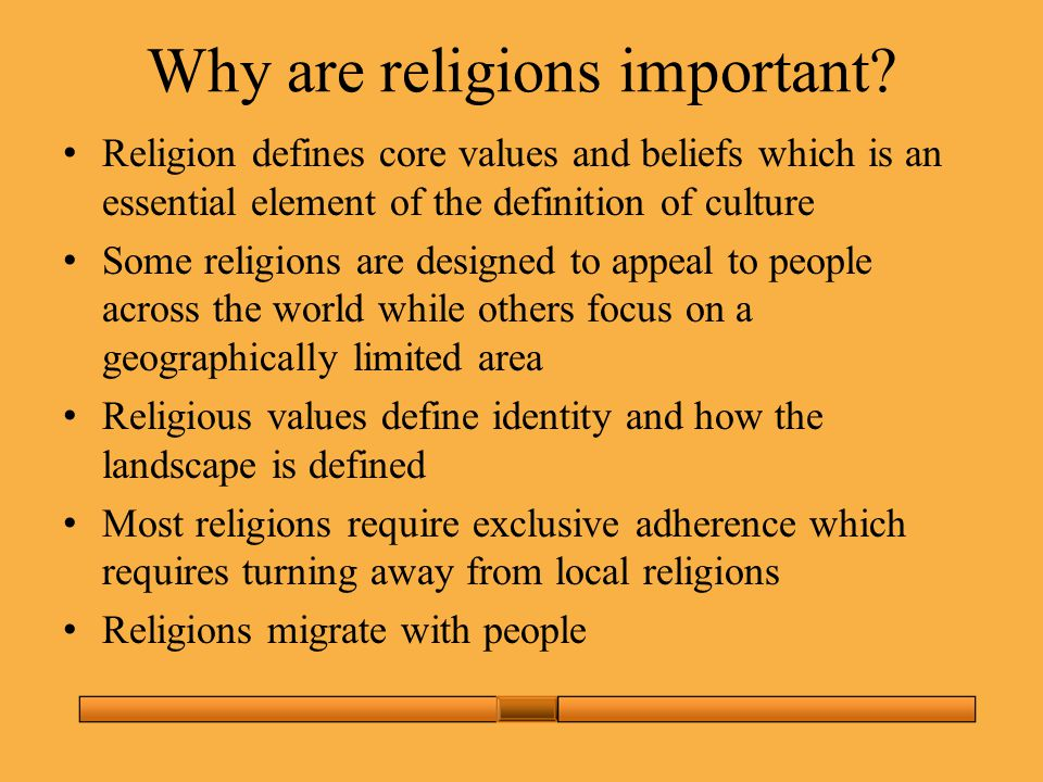 Why are religions important.