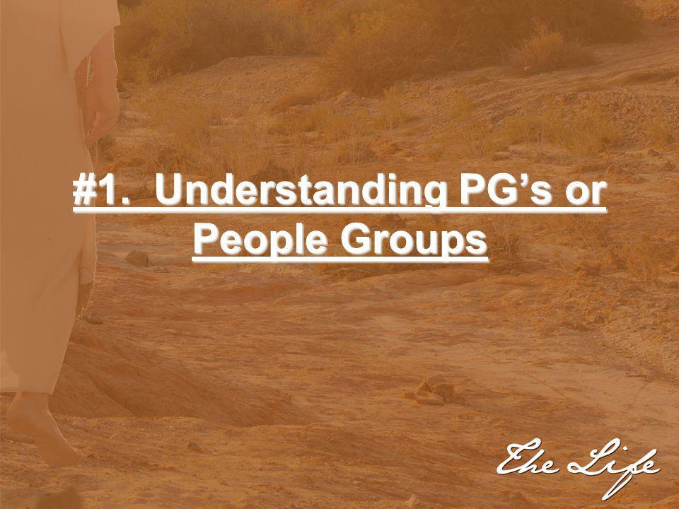 #1. Understanding PG's or People Groups
