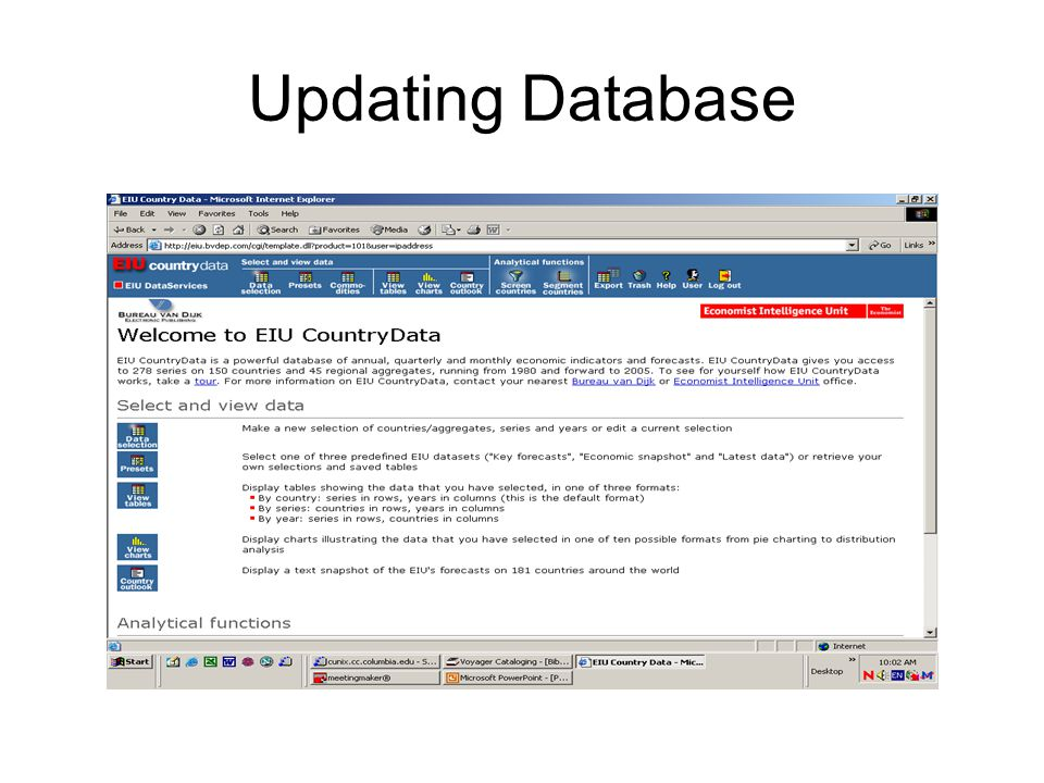 Updating Database