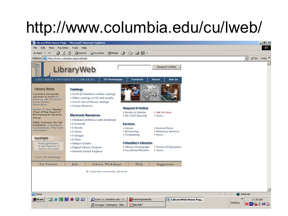 http://www.columbia.edu/cu/lweb/
