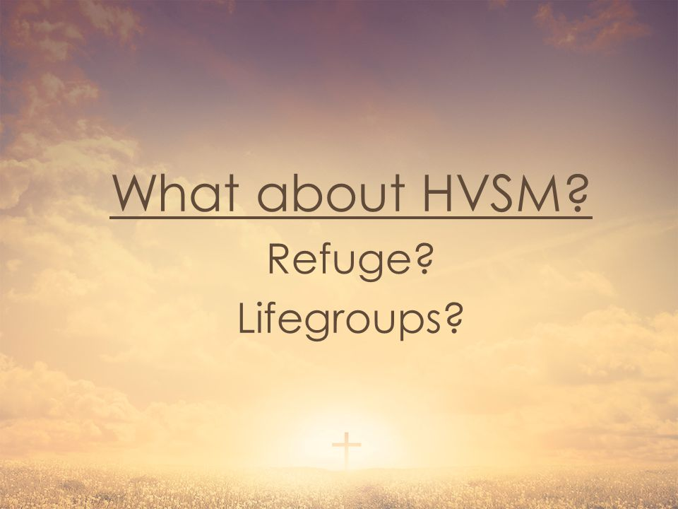 What about HVSM? Refuge? Lifegroups?