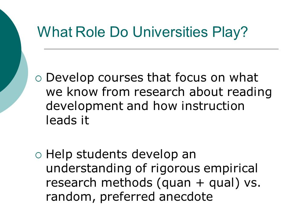 What Role Do Universities Play.