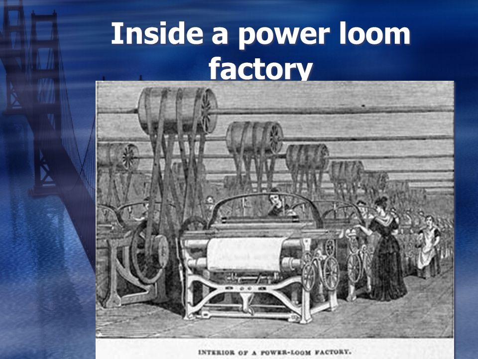 Inside a power loom factory