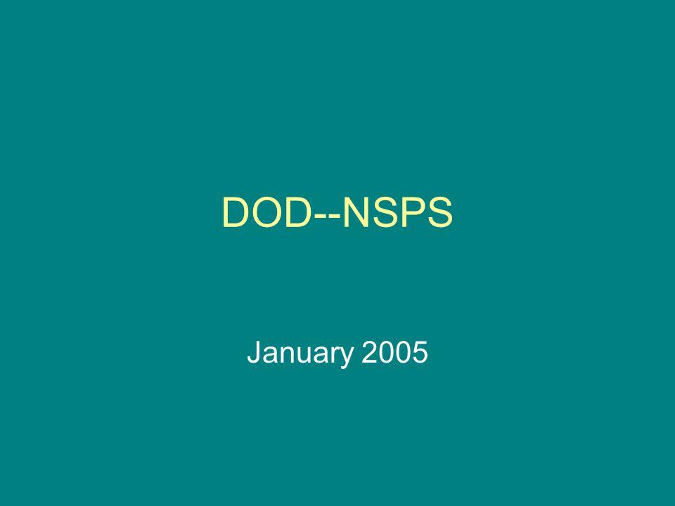 DOD--NSPS January 2005