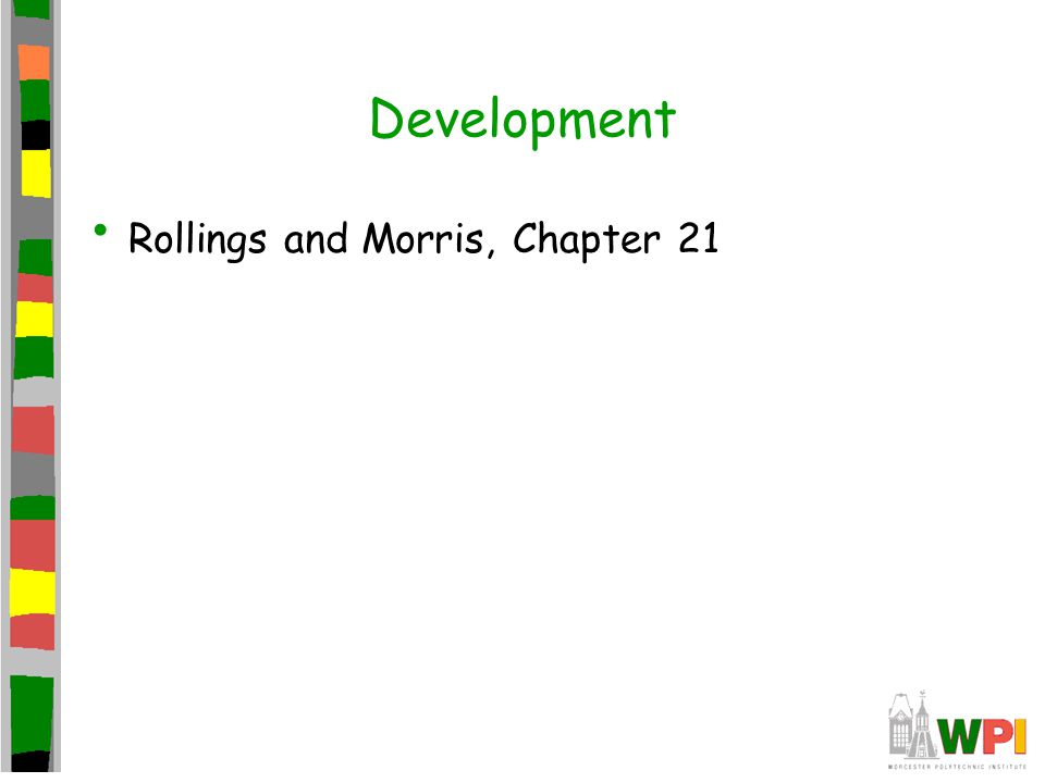 Development Rollings and Morris, Chapter 21