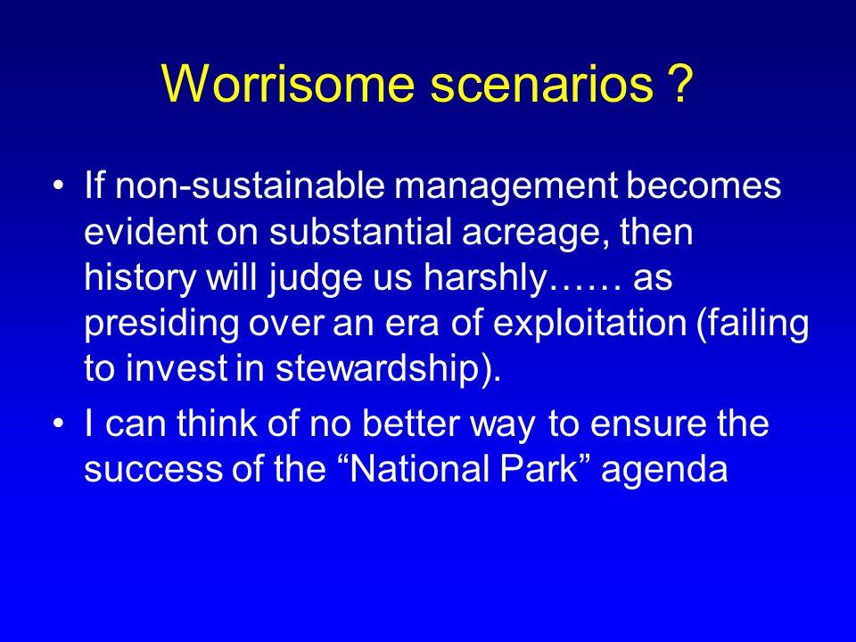 Worrisome scenarios .