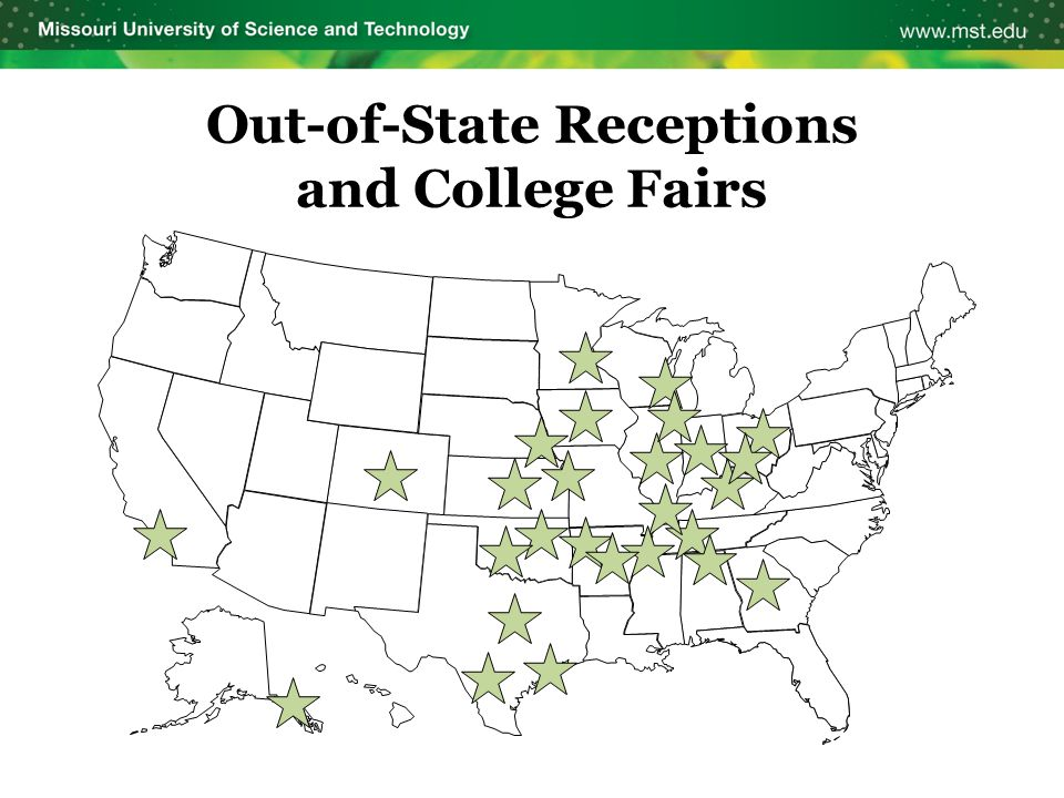 Out-of-State Receptions and College Fairs