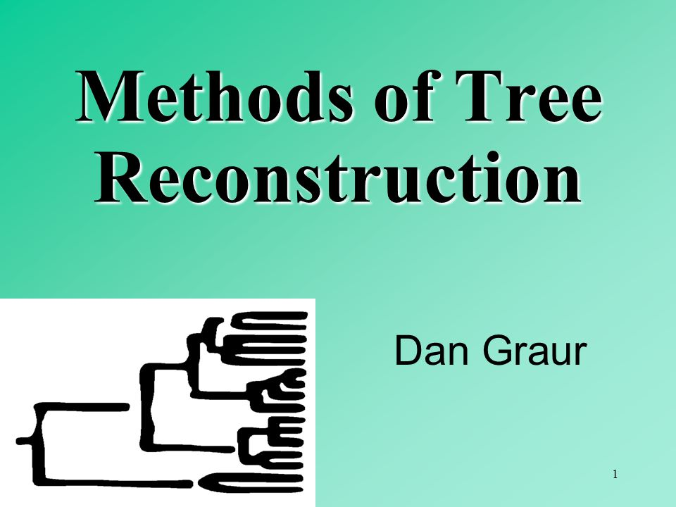 1 Dan Graur Methods of Tree Reconstruction
