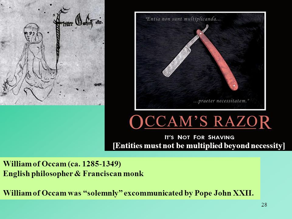 28 William of Occam (ca.