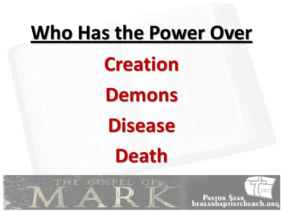 Who Has the Power Over CreationDemonsDiseaseDeath