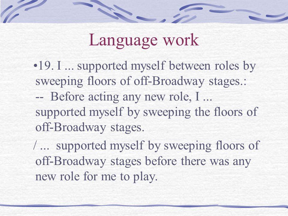 Language work 19. I...