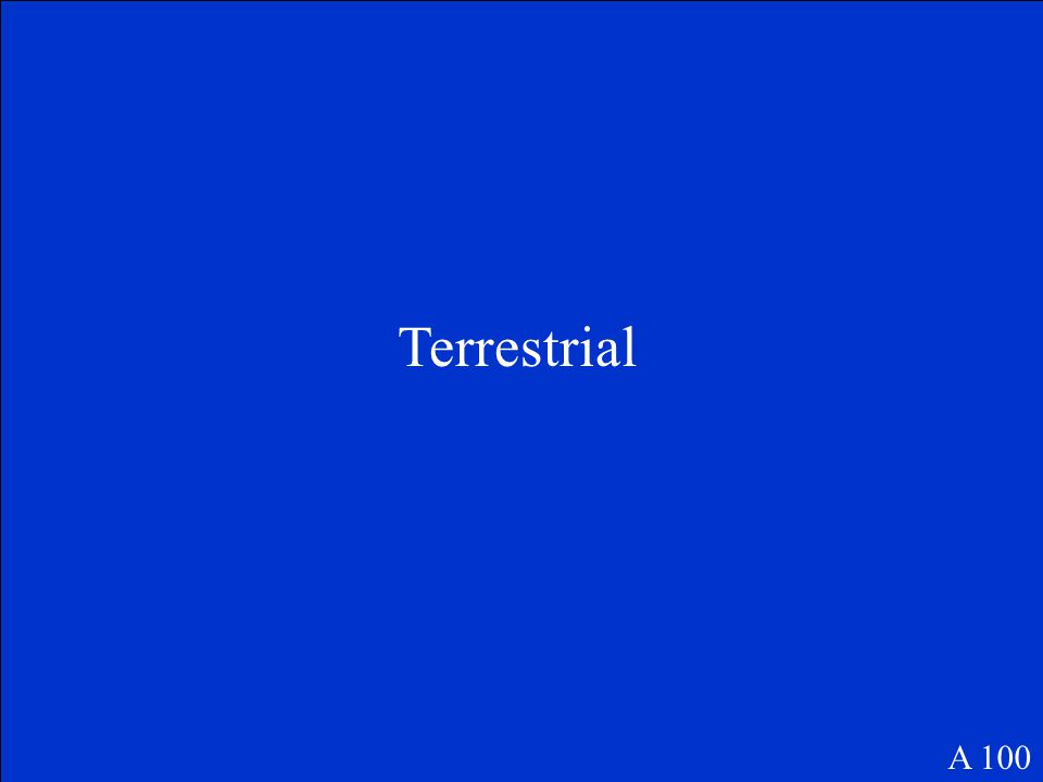 Terrestrial A 100