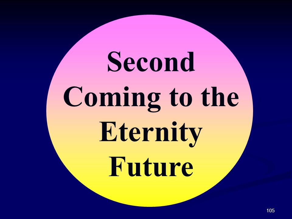 105 Second Coming to the Eternity Future