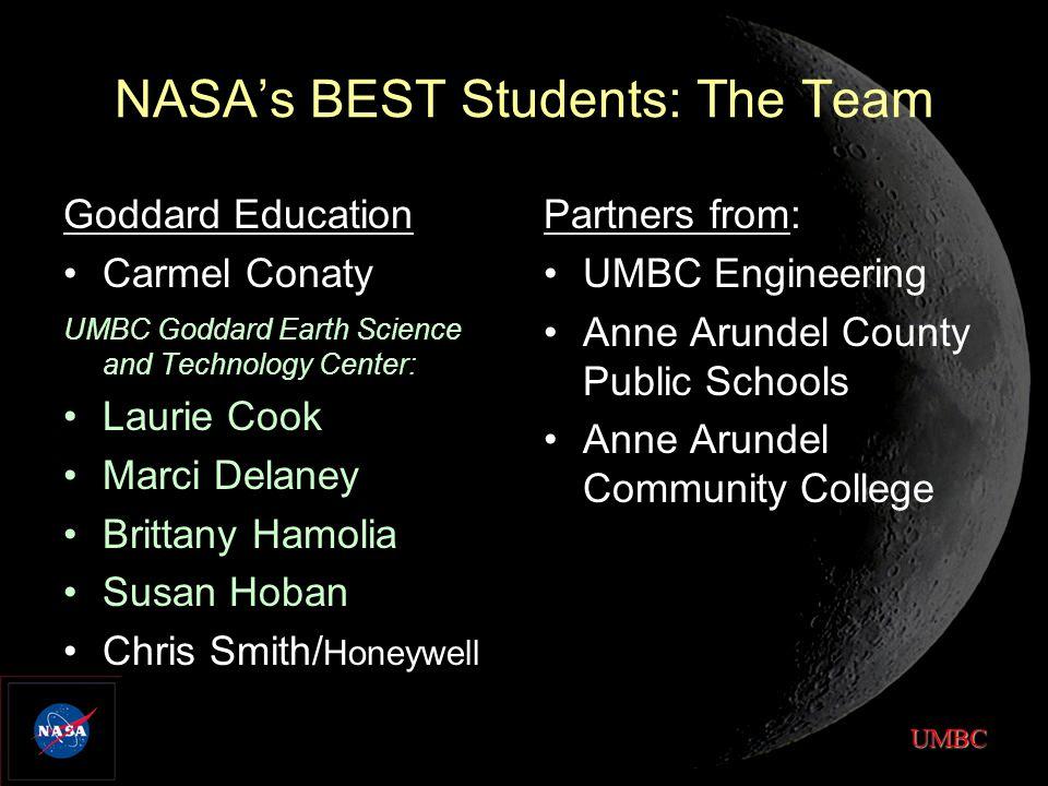 UMBC NASA's BEST Students: Project Summary STEM standards-based, Engineering Clubs 2-week Summer Bridges STEM Collaborative Challenge STEM Systems STEM Expo