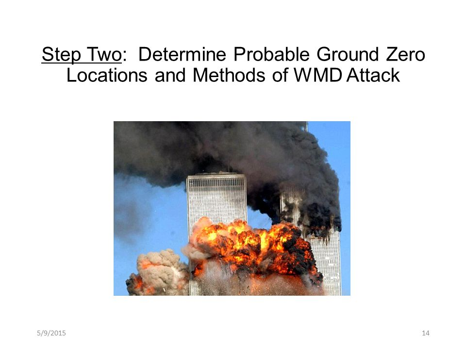 Step Two: Determine Probable Ground Zero Locations and Methods of WMD Attack 5/9/201514
