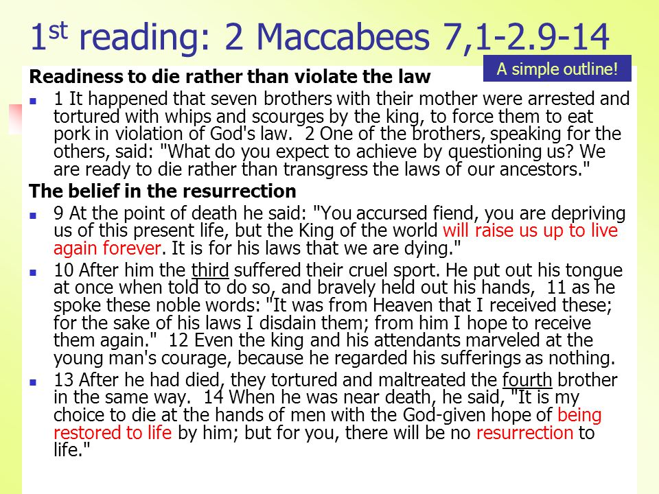 2 nd reading: 2 Thessalonians 2,16—3,5 Wish of Paul to the Thessalonians 16 May our Lord Jesus Christ himself and God our Father, who has loved us and given us everlasting encouragement and good hope through his grace, 17 encourage your hearts and strengthen them in every good deed and word.