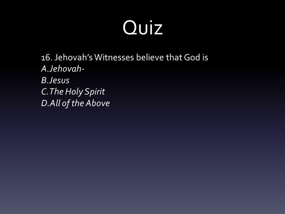 Quiz 16.