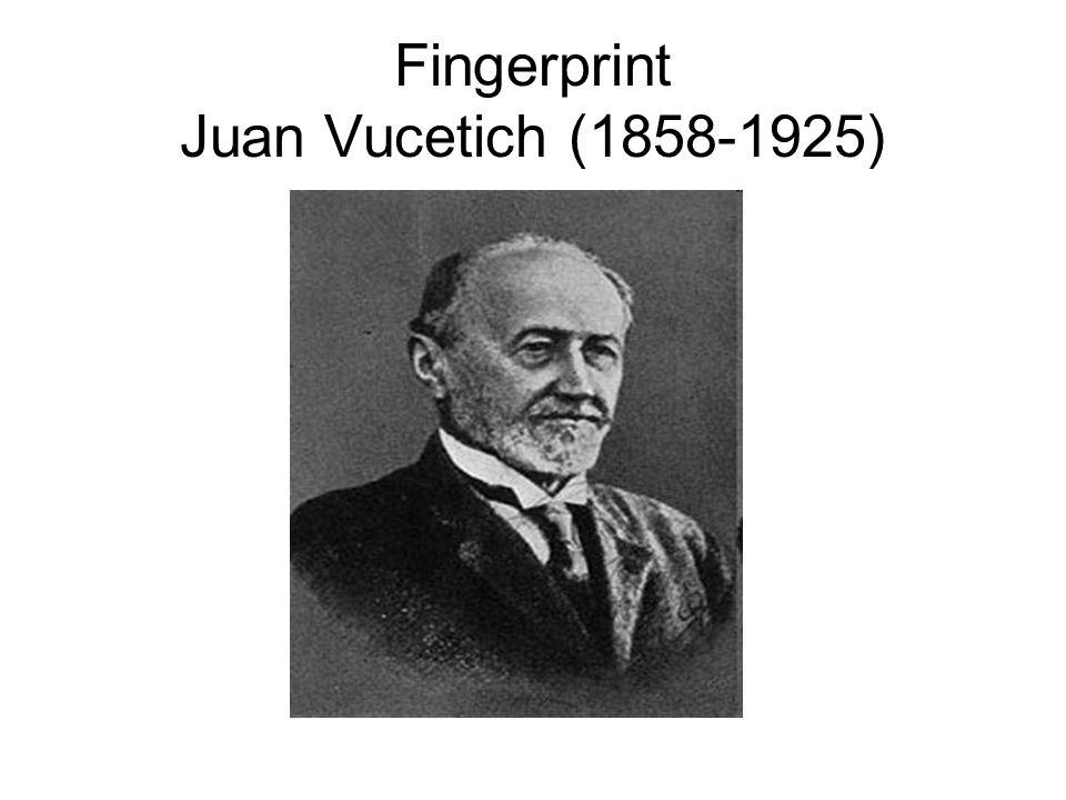 Fingerprint Juan Vucetich (1858-1925)