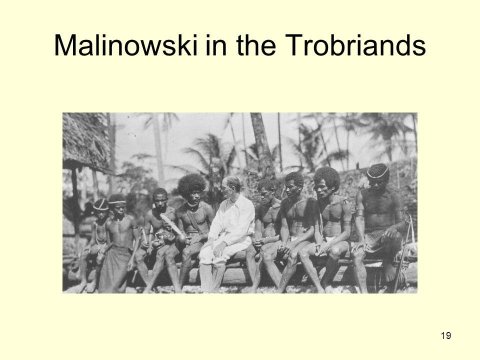 19 Malinowski in the Trobriands