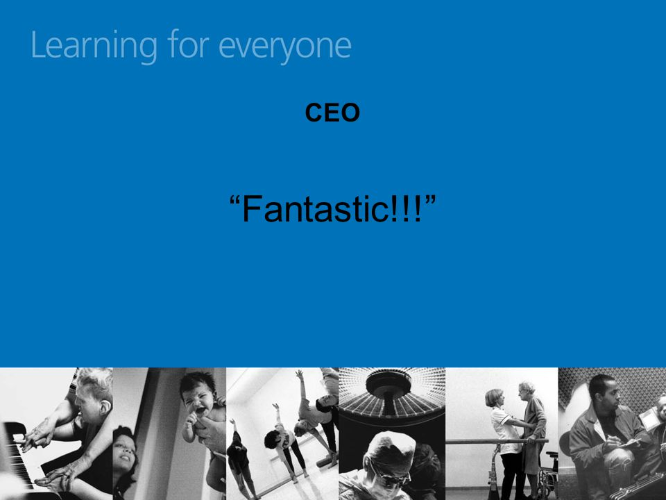 CEO Fantastic!!! (But get the cash from elsewhere)