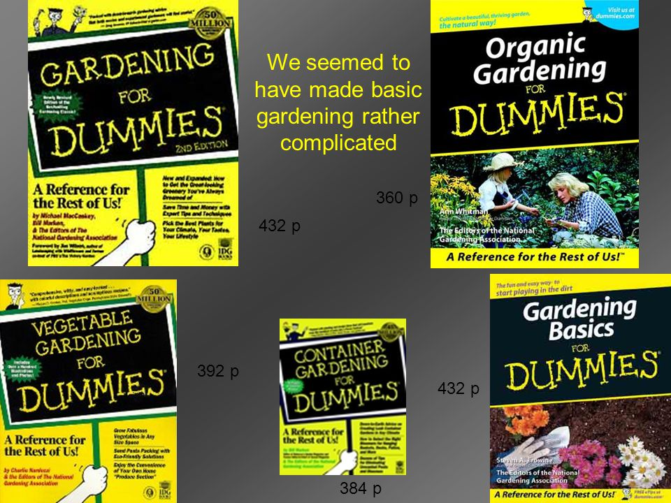 We seemed to have made basic gardening rather complicated 392 p 384 p 432 p 360 p 432 p