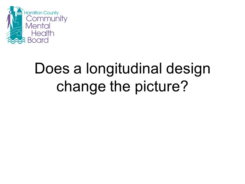 Does a longitudinal design change the picture