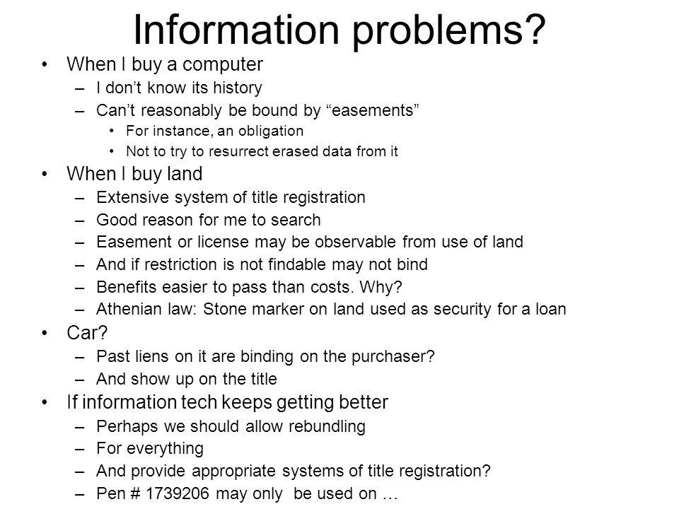 Information problems.