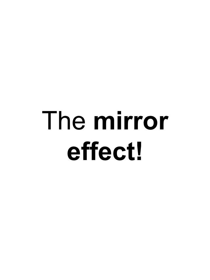 The mirror effect!