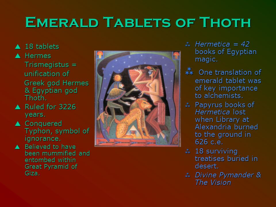 Behaviors Negative proclamations Thoth=scribe god Emerald Tablet Ammut, devourer of souls Everything counts Omniscient gods Provide for pharaoh at all costs Mummification Ritual lives