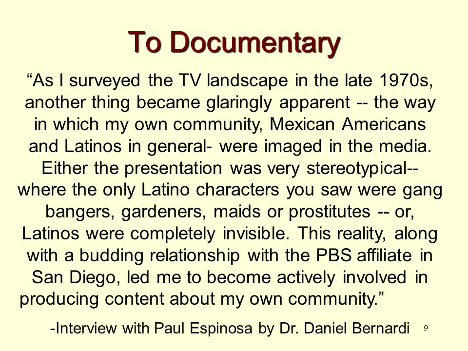 20 Documentary = Show Filmmakers, academics, and activists owe it to themselves and their constituents to more carefully pick apart the layers of outside interest that typically broach, exploit, and manage indigenous racial identities in public -John Caldwell