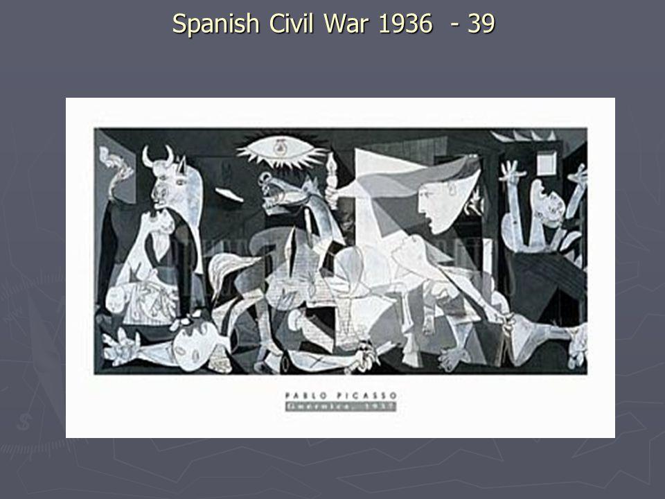 Spanish Civil War 1936 - 39